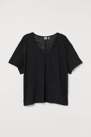 H&M + Linen jersey top