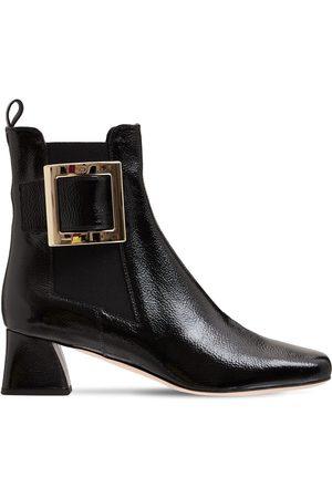 Roger Vivier Women Boots - 45mm Tres Vivier Patent Leather Boots