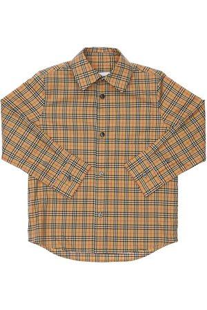 Burberry Boys Shirts - Check Cotton Poplin Shirt