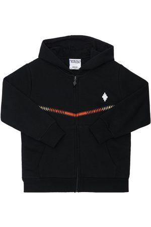 MARCELO BURLON Boys Sweatshirts - Logo Cotton Blendhoodie