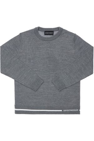 Emporio Armani Boys Jumpers - Wool & Acrylic Knit Sweater