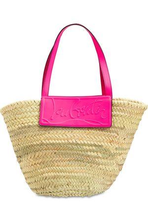 Christian Louboutin Women Handbags - Large Loubishore Straw & Leather Tote