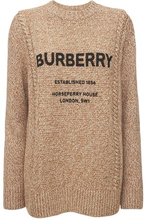 Burberry Women Jumpers - Mabel Logo Wool & Cotton Knit Sweater