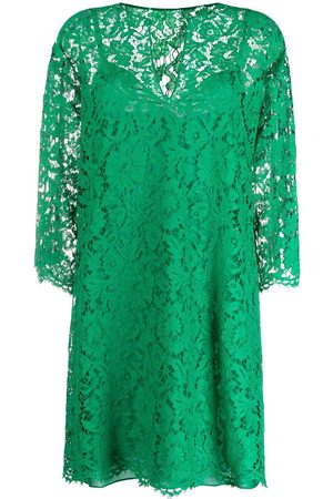 VALENTINO Women Printed Dresses - Floral lace shift dress