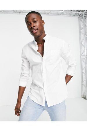 New Look Long sleeve organic cotton oxford shirt in