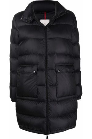 Moncler Women Jackets - Abricotier padded long jacket