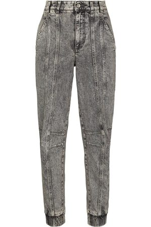 Stella McCartney Women Tapered - Acid-wash tapered jeans