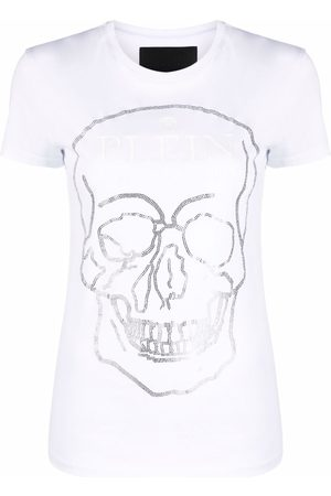 Philipp Plein Crystal-embellished cotton T-shirt