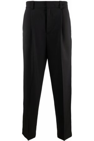 Acne Studios Men Formal Trousers - Tapered-leg tailored-cut trousers