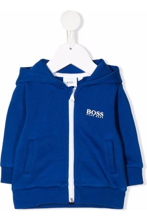 HUGO BOSS Hoodies - Logo-print zip-up hoodie