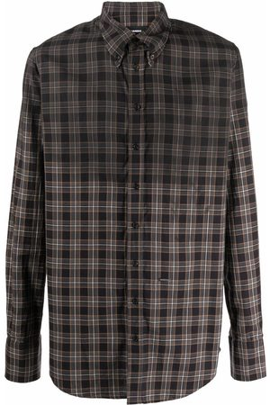 Dsquared2 Men Long Sleeve - Plaid check pattern shirt