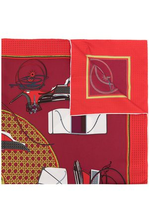 Hermès Scarves - 1990s pre-owned Les Voitures a Transformation silk scarf