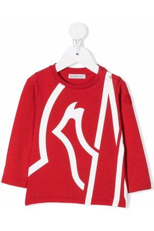 Moncler Long Sleeve - Oversize logo-print T-shirt
