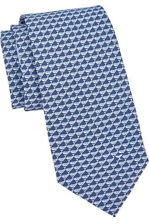 Salvatore Ferragamo Whale Print Silk Tie