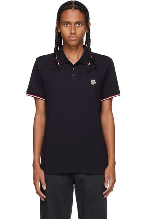 Moncler Navy Tricolor Polo