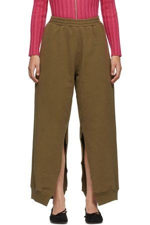 MM6 Maison Margiela Khaki Slit Lounge Pants
