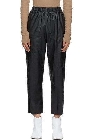 MM6 Maison Margiela Faux-Leather Pull-On Trousers