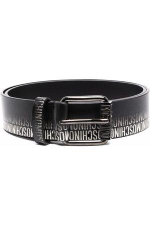 Moschino Men Belts - Faded logo-print leather belt