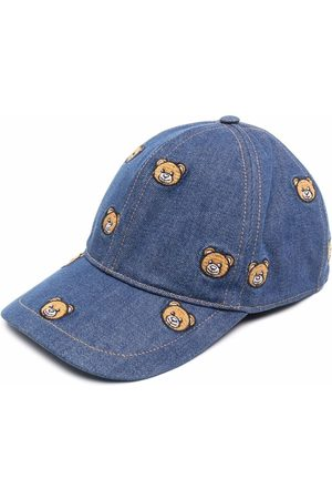 Moschino Teddy-embroidered cap