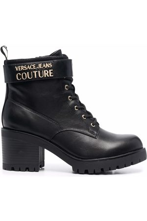 VERSACE Women Lace-up Boots - Chunky-heel lace-up boots