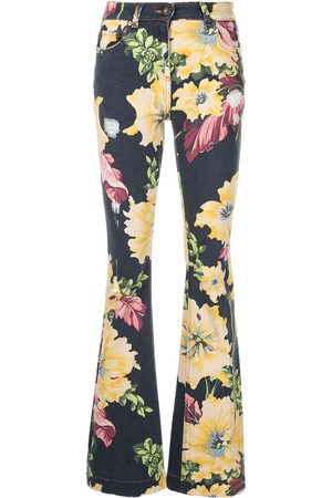 Etro Women Bootcut & Flares - Floral-print flared jeans