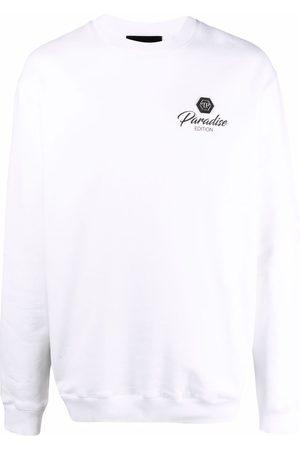 Philipp Plein Men Long Sleeve - Logo-patch long-sleeved sweater