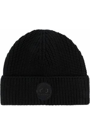 Woolrich Ribbed-knit logo-patch beanie