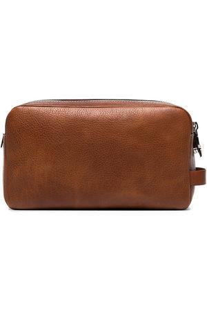 Brunello Cucinelli Men Toiletry Bags - Leather wash bag