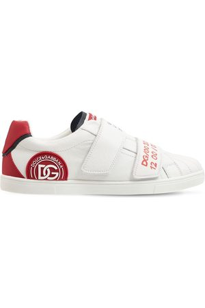 Dolce & Gabbana Embellished Leather Strap Sneakers