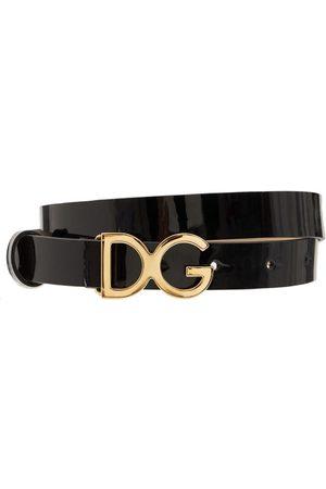 Dolce & Gabbana Logo Buckle Leather Belt