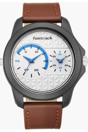 Fastrack Men Analog Watch with Leather Strap - 38042PL01