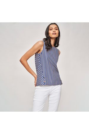 AND Women Striped Sleeveless Top