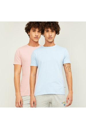 Forca Men Solid Regular Fit Polo T-shirt- Pack of 2