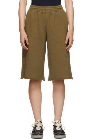 Women Shorts - MM6 Maison Margiela SSENSE Exclusive Khaki Logo Shorts