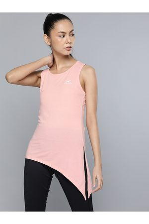 Alcis Women Tank Tops - Women Pink Brand Logo Printed Tank T-Shirt