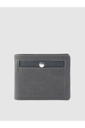 Baggit Men Grey Solid Two Fold Wallet