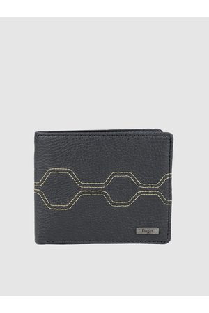 Baggit Men Blue Embroidered GW ASCENDING ENGLISH Two Fold Wallet