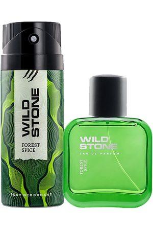 Wild stone Men Pack Of 2 Forest Spice Deodorant & Perfume EDP