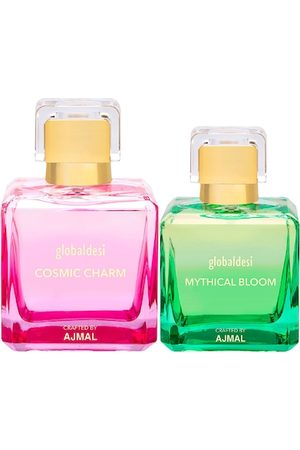 Global Desi Women Sets - Women Set Of 2 Cosmic Charm EDP & Mythical Bloom EDP Perfume Crafted By Ajmal