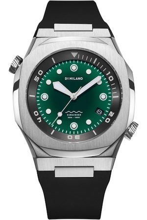 D1 MILANO Men Green Brass Dial & Black Straps Analogue Automatic Watch