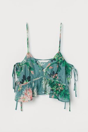 H&M Cropped top - Turquoise