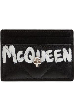 Alexander McQueen Women Wallets - Quilted Nappa Graffiti Card Holder