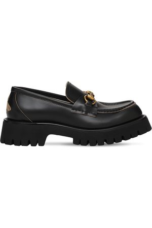 Gucci Women Loafers - 25mm Harald Leather Loafers