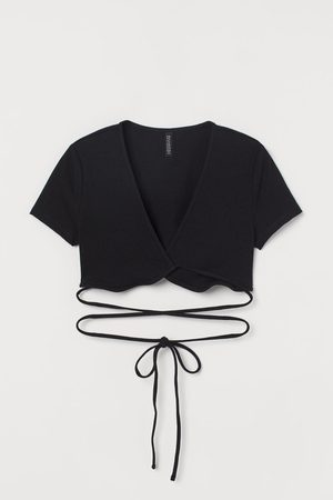 H&M Cropped wrapover top