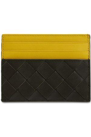 Bottega Veneta Men Wallets - Intreccio Leather Card Holder