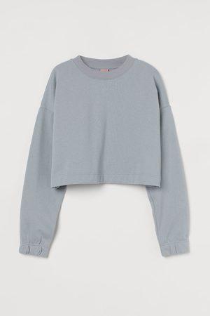 H&M Cropped sweatshirt - Grey