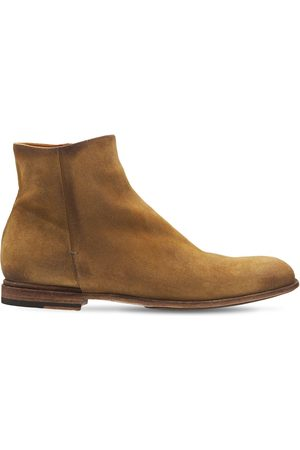 Pantanetti 25mm Zip-up Suede Ankle Boots