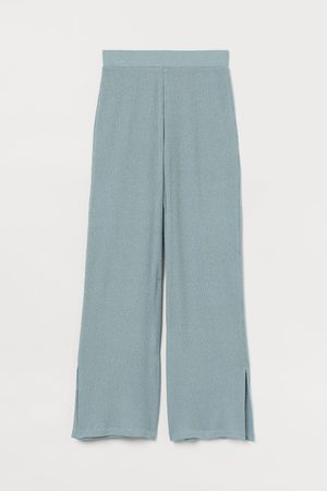 H&M Knitted trousers - Turquoise