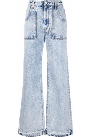 Alessandra Rich High-waisted flared leg jeans