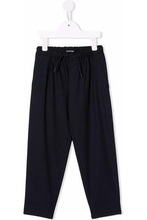 Emporio Armani Drawstring straight leg trousers